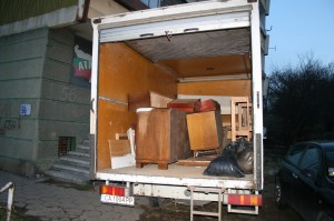 Изхвърляне на мебели