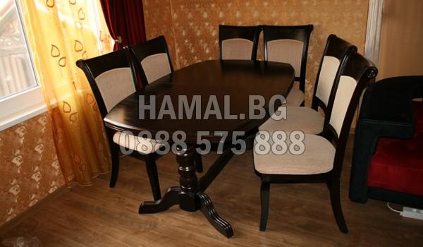 Безплатно изнасяне намаса със столове