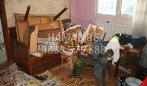 Почистване на апартамент от битови отпадъци и покъщнина