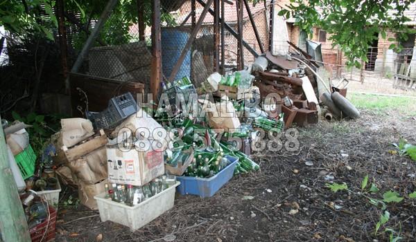 Почистване на двор от боклуци в София и около София
