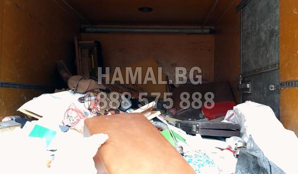 Извозване на чували със строителен отпадък в София